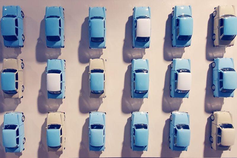 Full frame shot of blue seats