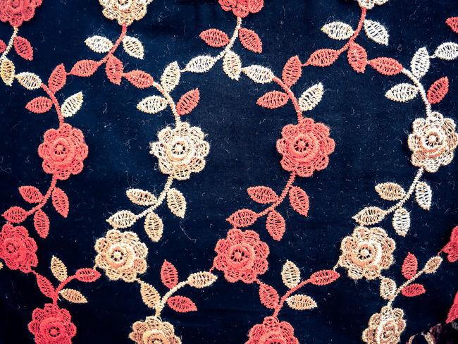 Arrangement Art And Craft Backgrounds Close-up Craft Creativity Decoration Design Embroidery Floral Pattern Full Frame High Angle View Indoors  Jewelry Large Group Of Objects Luxury No People Pattern Red Repetition Still Life Textile