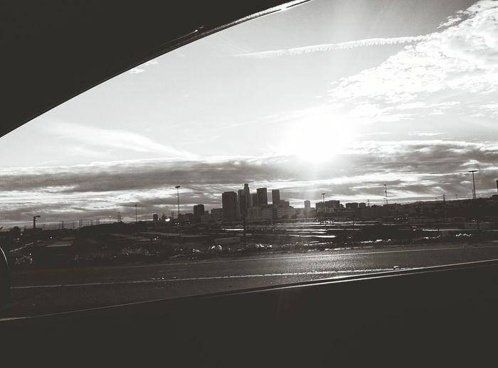 Losangeles Skyline Driving Driving Around Sunset