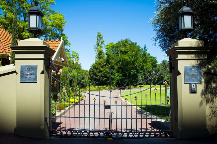 Government House Gates Perth Australia City Government House Gate