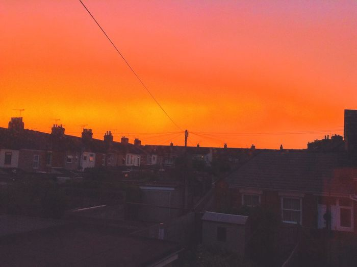 The second beautiful sky I captured from my room a few months ago. RedSky Nature Swindon Wiltshire Uk Europe