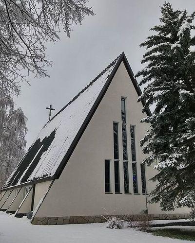 Chapel Kappeli Capilla Chapelle Cemetery Hautausmaa Cementerio Cimetiere Valkeakoski Igersvalkeakoski Finland Igersfinland Suomi Snow Lumi Nieve Neige