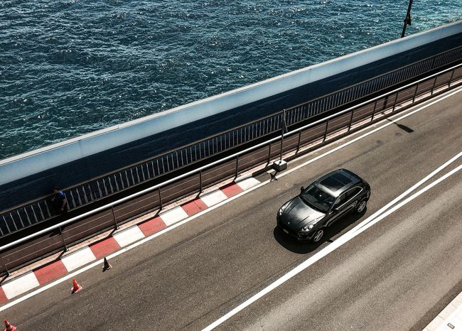 Bedaschmid Photography Transportation Car Water Road Outdoors Porsche Cayenne Monaco View Lucky One  High Angle View