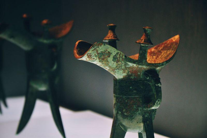 """爵 """"Jue"""" a kind of Chinese goblet in Spring and Autumn and Warring States period, from 770 B.C. to 221 B.C.. Culture Relics Relics Goblet Object Photography Museum Indoors  No People Close-up Day"""