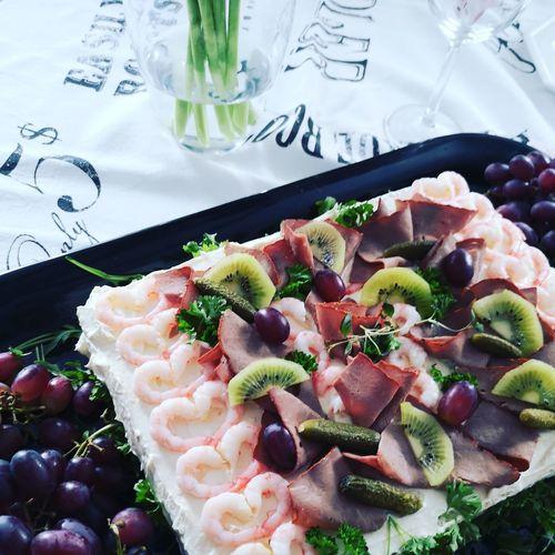 Birthday mood Celebrating Happy Birthday! Smörgåstårta EyeEm Selects Drink Dessert Close-up Food And Drink Served Temptation Cake Birthday Cake