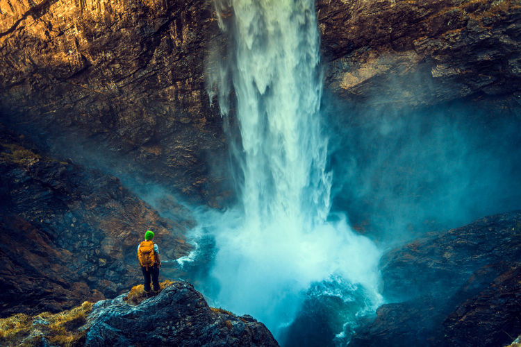 Hypnotic waters of Manafossen. Adventure Backpack Explore Hike Månafossen Motion Mountain Mountains Månafossen Nature Norway Norway ✌ Norway🇳🇴 One Person Outdoors People Power In Nature Rock - Object Snapshopped Travel Water Waterfall Waterfalls