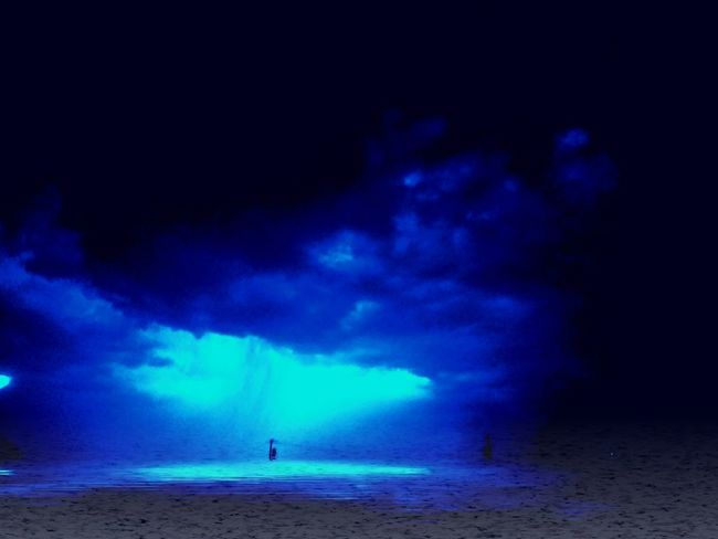 Let ot shine on the water Night Water Sky Dramatic Sky Lightning