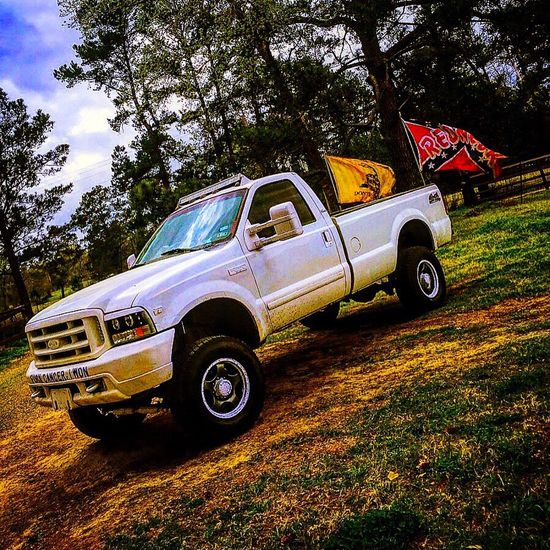 Spring Time Lifted Truck Rebel Flag DontTreadOnMe First Eyeem Photo