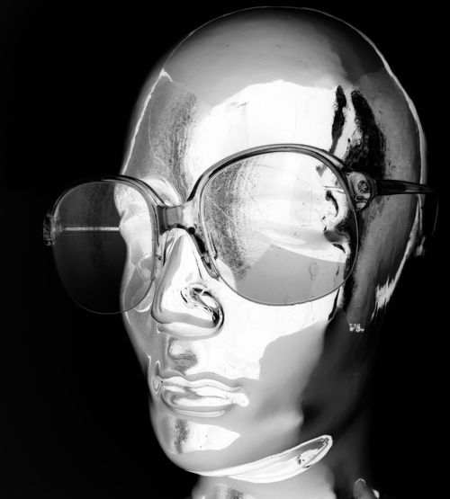 Black Background Close-up Cut Out Dark Darkroom Digital Composite Eyeware Fashion Eyewear Focus On Foreground HEAD Headshot Photography Illuminated Negative Effect No People Shiny Still Life Studio Shot