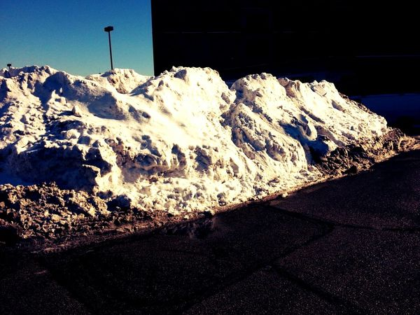 Mini Himalayas in the middle of the parking lot Chiberia Mountains Winterwonderland Urban Tundra