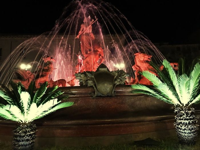 #Chycas #fontana #piazzaarchimede #nightlights Long Exposure Indoors  Flower