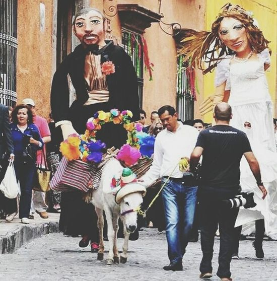 San Miguel De Allende. Mojigangas Culture Folklore San Miguel De Allende Trips Around The World National Trip Leon Guanajuato Hello World Taking Photos Enjoying Life Street Photography People Photography Calor Cultura