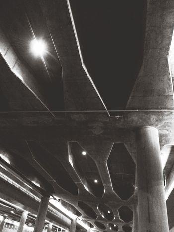 Pulkovo Airport Saint-Petersburg Urban Geometry Architecture Black And White Light And Shadow Eye4black&white  Monochrome Bridge