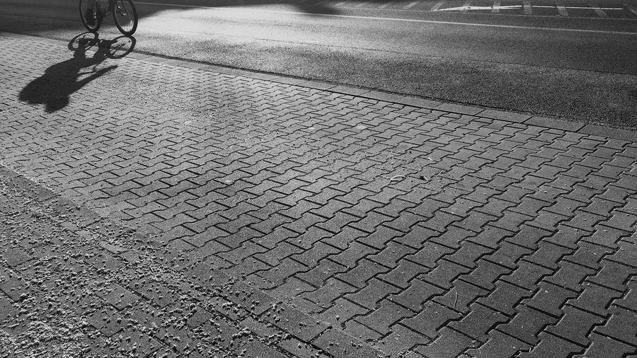 Morning Shadow Bicycle Blackandwhite