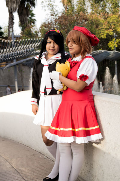 By Azager Lasstroth 18-55mm Cards Cosplay Cosplayer Day Kiki Cyan Outdoors Portrait Portrait Of Womans Sakura Card Captor Saori Zato So Sony A37 Tomoyo
