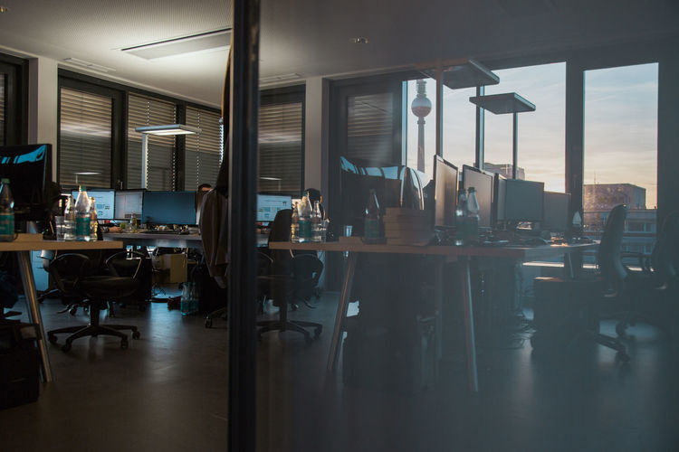 Interior shot of an office