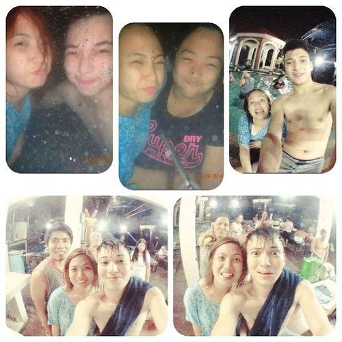 Swim cousin swim! <3 @sanchosanti Cousinlove  Bebelove Familynightswimming