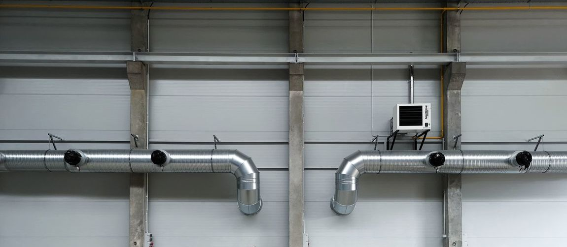 Close-up of pipes on wall