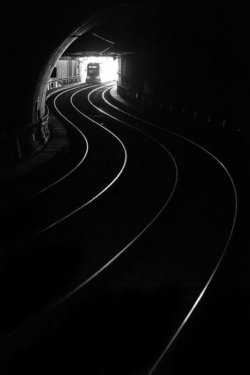 Duesseldorf, Germany Bahngleise Metro Schienen Underground Bnw Curve No People Schwarzweiß Transportation Tunnel Ubahn Wehrhahnlinie Black And White Friday Black And White Friday EyeEm Ready