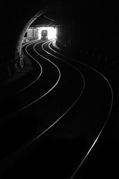 Duesseldorf, Germany Bahngleise Metro Schienen Underground Bnw Curve No People Schwarzweiß Transportation Tunnel Ubahn Wehrhahnlinie Black And White Friday Black And White Friday EyeEm Ready