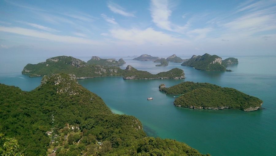 Breathtaking View Islands Thailand Beauty In Nature Day Green Color High Angle View Horizon Over Water Mountain Nature Nautical Vessel No People Outdoors Scenics Sea Sky Tranquil Scene Tranquility Water Be. Ready. EyeEmNewHere