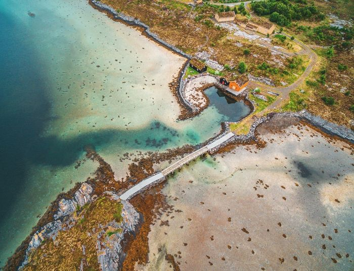 Aerial landscape in Norway Bridge Aerial View Dronephotography Phantom 3 Nature Water Aerial View Backgrounds Tree Abstract Full Frame Pattern Close-up Shore Textured  Rough Pebble Beach Countryside