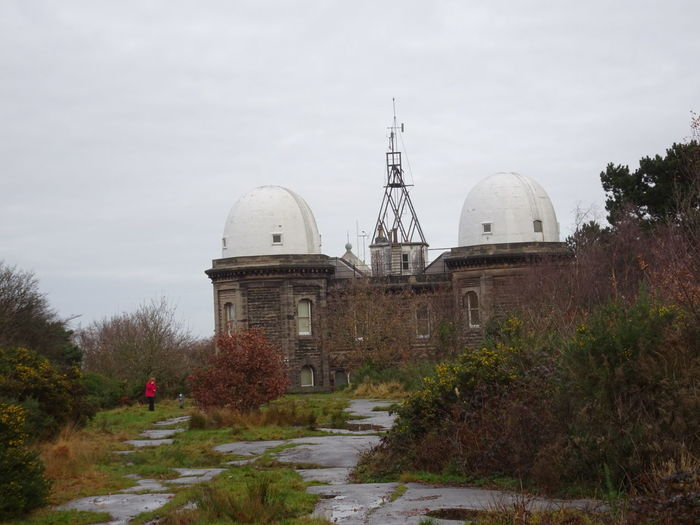Bidston Observatory Architecture Dome Built Structure Nature Outdoors Sky Beauty In Nature Autumn Colours Tranquility One Person Walking