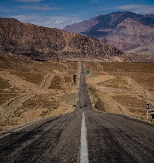 Road passing through desert