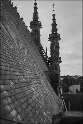BEST URBEX EVER (3) Urbex Urbexphotography Blackandwhite Belgian Urbex Urbexexplorer Gothic Architecture Kris Demey Photography Architecture Built Structure Building Exterior Sky Tower Building Travel Destinations No People Tall - High Day