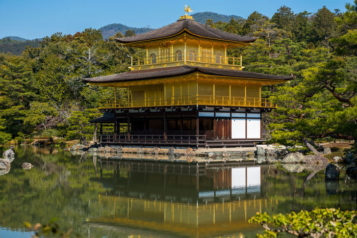 Golden Temple Kinkakuji Architecture Building Exterior Built Structure City Cultures Day Gold Colored Golden Temple Golden Temple Kyoto Japan Japan Photography Japanese  Kinkakuji Temple Kinkakuji Temple Of Japan Nature Nihon No People Outdoors Sky Tree UNESCO World Heritage Site Water World Heritage