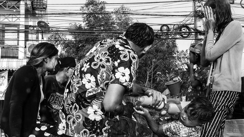 Shoot 'em up Festival Water Festival Thailand Streetphotography Street Photography People Kid Water Gun Water Games💦 Black And White EyeEm Selects 100 Days Of Summer Sommergefühle Adventures In The City