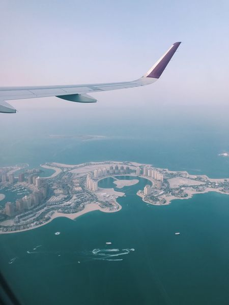 Airplane Journey Aerial View Transportation Flying Sea Airplane Wing Air Vehicle Water Mid-air Mode Of Transport No People Sky Nature Outdoors Day Beauty In Nature Live For The Story
