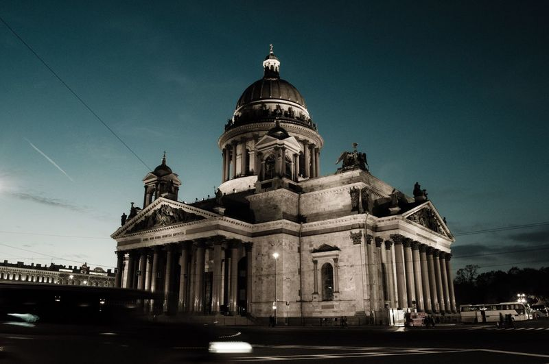 St Isaac's Cathedral Architecture Building Exterior Religion Outdoors Low Angle View History Spirituality Architectural Column Travel Destinations No People City Saint Petersburg