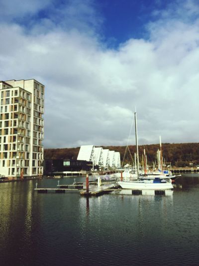 Vejle lystbådehavn Denmark 🇩🇰 Vejle Getty Getty Images Adobe Adobe Stock Nautical Vessel Transportation Water Sky Mode Of Transportation Cloud - Sky Building Exterior Architecture Built Structure Sailboat Waterfront City Outdoors Harbor