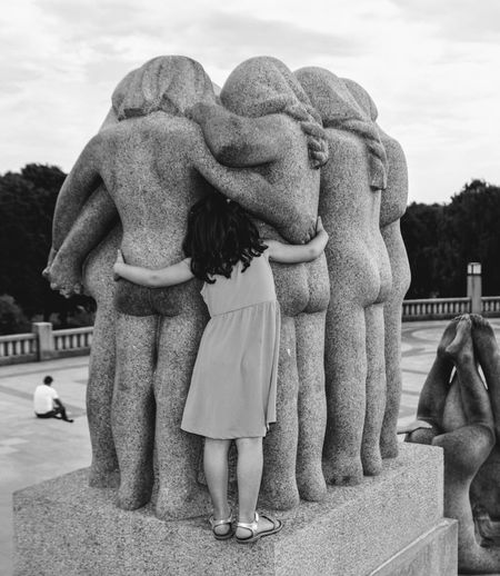 All together The Art Of Street Photography Sculpture Art And Craft Statue Representation Human Representation Creativity Sky Women Two People Full Length Day Leisure Activity Real People Togetherness Child Childhood People Females Lifestyles Positive Emotion Angel Sister Exploring Fun The Traveler - 2019 EyeEm Awards