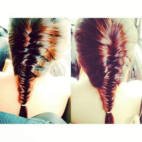 Fishtail braid. Fishtail  Braid Hairdiaries Hair fashion diy