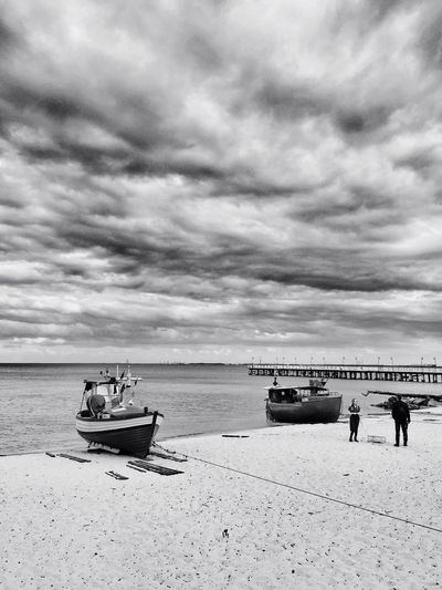 The Boats And Meditation Gdynia 30 May 2015 Iphone 6 Plus IPhoneography EyeEm Best Shots EyeEm Best Edits Bnw_collection Landscape_Collection EyeEm Masterclass IPSBlackWhite The Great Outdoors - 2015 EyeEm Awards IPS2015BW IPS2016White