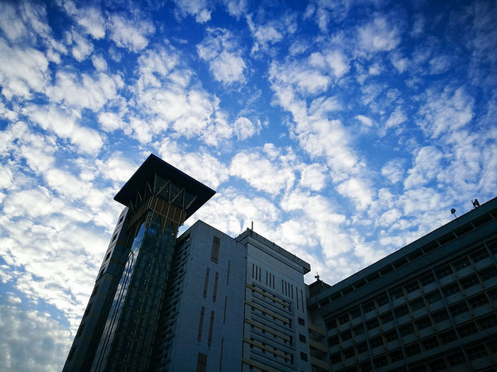 Low Angle View Building Exterior Architecture Sky Cloud - Sky Built Structure City Skyscraper No People Outdoors Day Modern