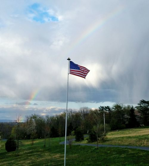 Taking Photos Check This Out Enjoying Life Rainbows Perry County Farm Duncannon, Susquenita American Flag