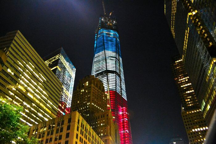 Architecture Working Night Looking Up One 1wtc OneWTC Tallest Structure  WorldTradeCenter