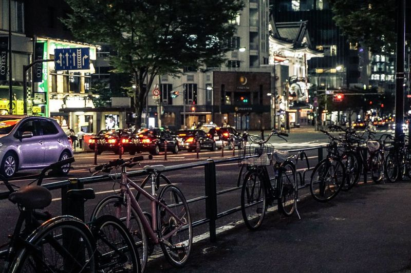 Bicycle Transportation No People Outdoors City Night Tokyo,Japan The Street Photographer - 2017 EyeEm Awards The Photojournalist - 2017 EyeEm Awards EyeEmNewHere EyeEm Best Shots
