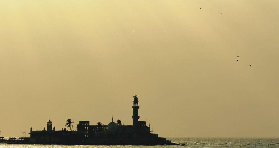 Haji Ali Dargah In Sea Against Sky