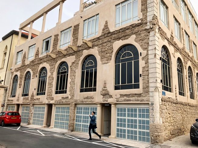 Tel Aviv Jaffa Young Women Women Architecture Window One Person One Man Only Building Exterior Full Length Walking Adult Adults Only Outdoors Real People People Day Built Structure Standing Only Men City An Eye For Travel Colour Your Horizn