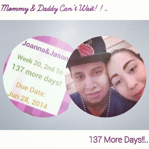 Time is flying!! We can't wait till your out Vale we love you so much xoxo - Mommy & Daddy ❤ 137DaysToGo Cantwait FreeVale LOL SoExited @mammacita502