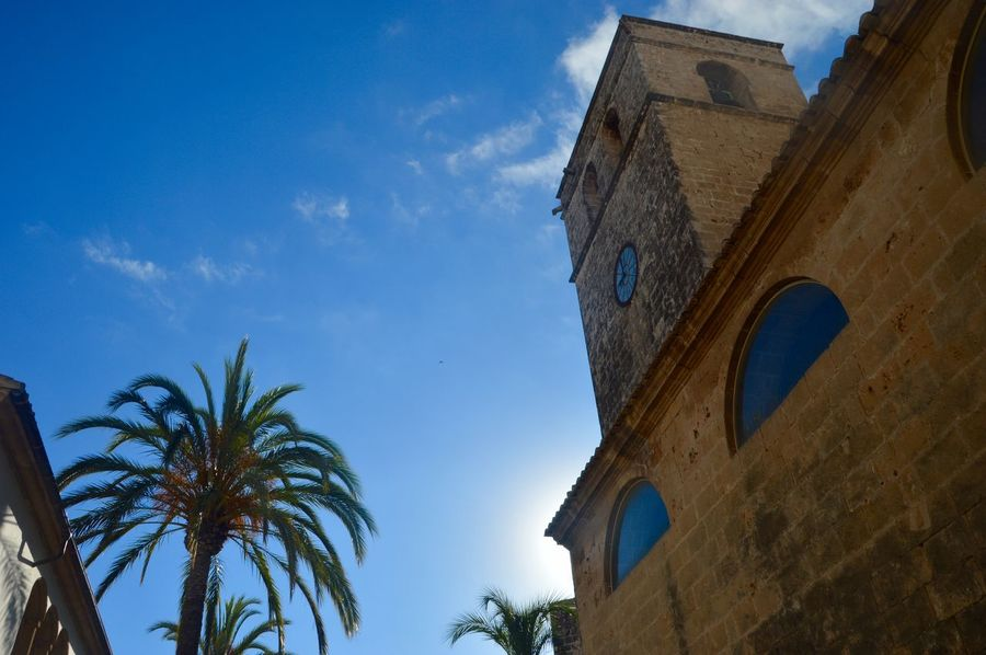 Architecture Blue Building Exterior Built Structure Cloud - Sky Day History Low Angle View Nature No People Outdoors Palm Tree Sky Travel Destinations Tree