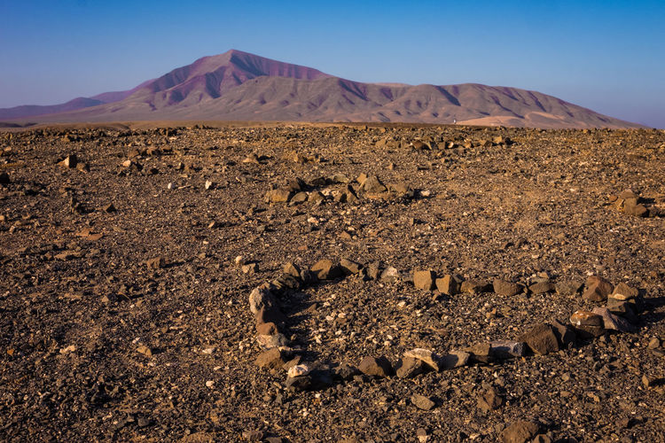Scenic view of arid landscape heart shape