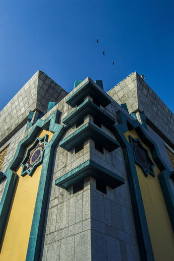 Architecture Architecture Blue Building Exterior Built Structure Clear Sky Islamic Center Jakarta Islamic Center Jakarta Utara JICC Masjid Moslem Mosque No People Outdoors Pray Religious  Tanjung Priok