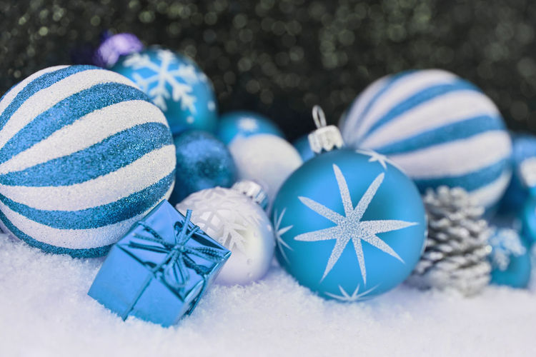 close-up of christmas decoration Advent Background Blue Card Celebration Christmas Christmas Ball Christmas Card Christmas Decoration Christmas Gift Christmas Ornament Christmassy Close-up Decoration Decorative Design Event Festive Focus On Foreground Gift Greeting Holiday Indoors  Merry No People Ornament Party Pattern Present Season  Seasonal Shape Snow Still Life Striped Turquoise Colored White White Color Winter Year