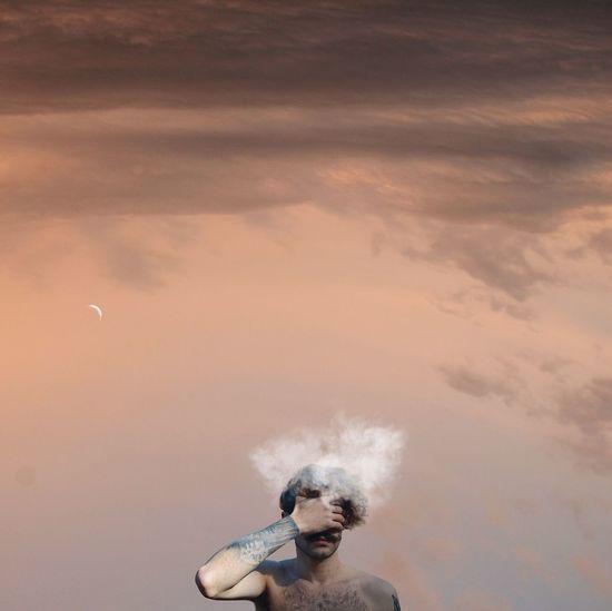 Man in mid-air