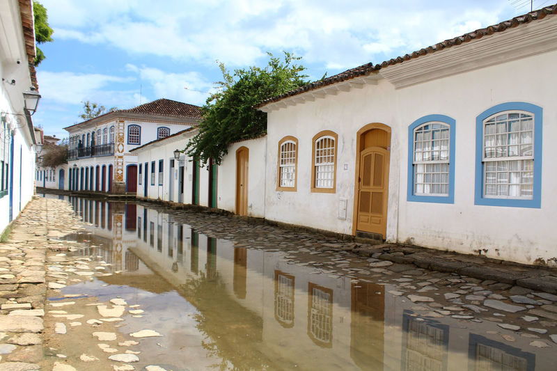 Reflections Historic Center Paraty - RJ Paraty, Brazil Antic City Antic House Architecture Colorful Historic Center Of The City Landscape Outdoors Paraty